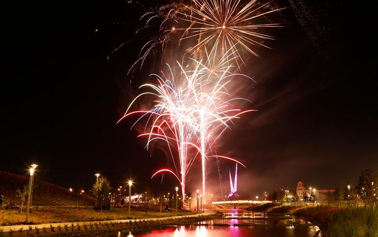 Adventure Road Scissortail Park Fireworks