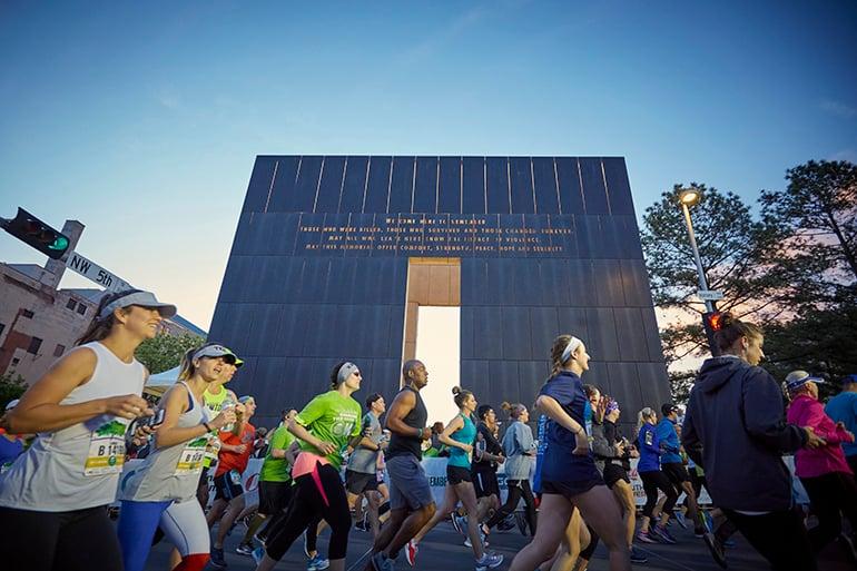 Oklahoma City Memorial Marathon runners
