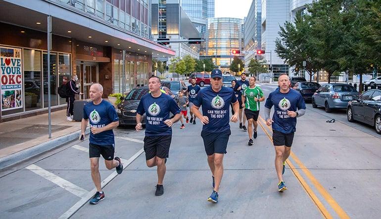 Oklahoma City Memorial Marathon racers.